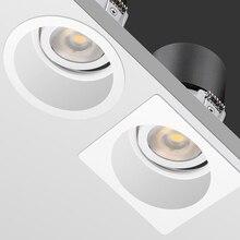 [DBF] לא מרצד זווית מתכוונן LED COB שקוע Downlight 7W 12W 15W עגול/מרובע LED תקרת ספוט אור Pic רקע