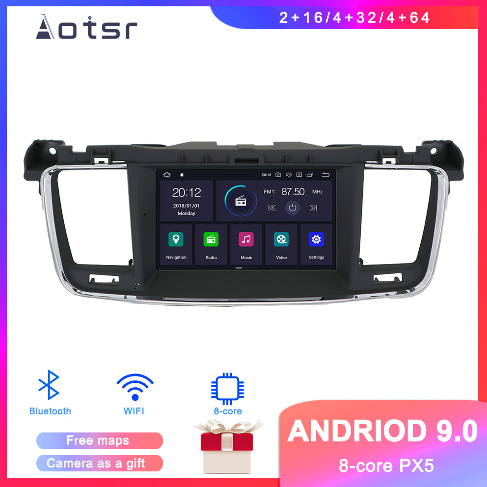 DSP Android 9.1 Car <font><b>GPS</b></font> Navigation Car DVD Player <font><b>For</b></font> <font><b>Peugeot</b></font> 508 2011-2017 Auto Stereo Radio Multimedia player Head Unit Video image