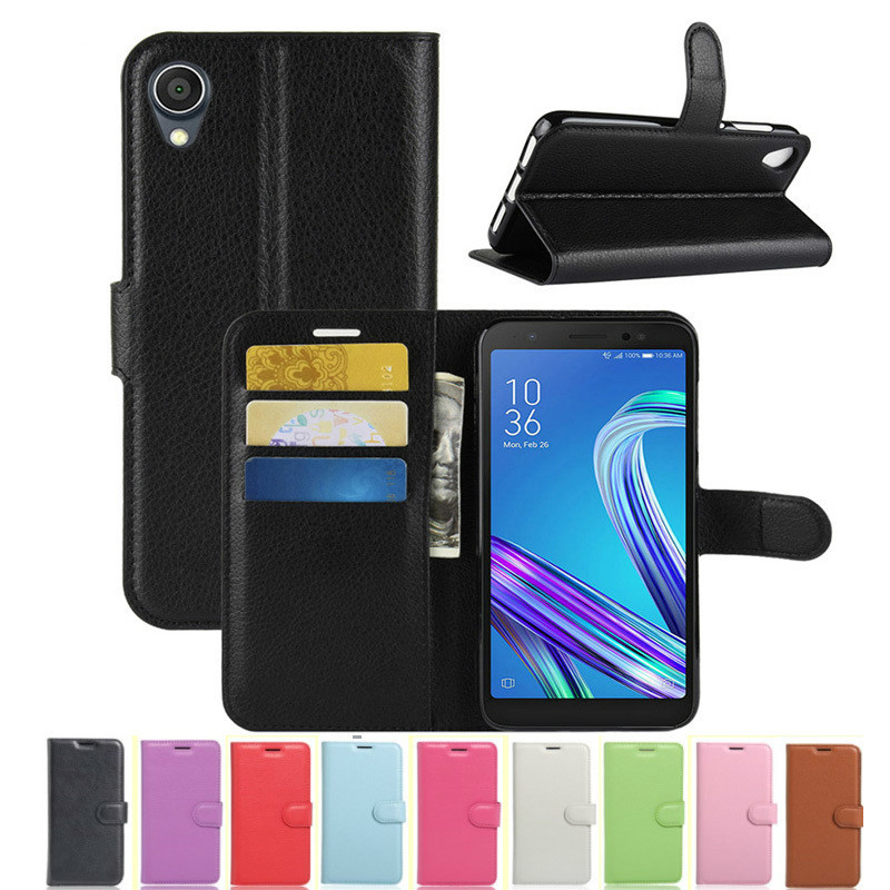 For <font><b>Asus</b></font> ZenFone Live L1 ZA550KL Case Flip 5.5 Wallet Leather Cover for <font><b>ASUS</b></font> ZA550KL ZA ZA550 <font><b>550</b></font> 550KL <font><b>KL</b></font> X00RD TPU Phone Case image