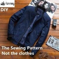 Швейные узоры для мужской китайской куртки с воротником WW-M1159
