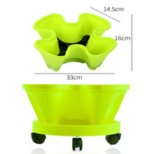 New Three-Dimensional Multi-Layer Combination Flowerpot, Strawberry Planting Pot, Large Four-Petal Balcony Vegetable Garden