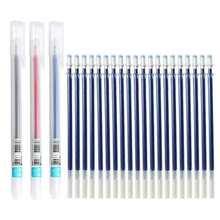 23 unids/lote 0,5mm bolígrafo de Gel para oficina relleno de pluma de firma de rojo azul negro repuesto varilla para maneja la escuela material de papelería para exámenes