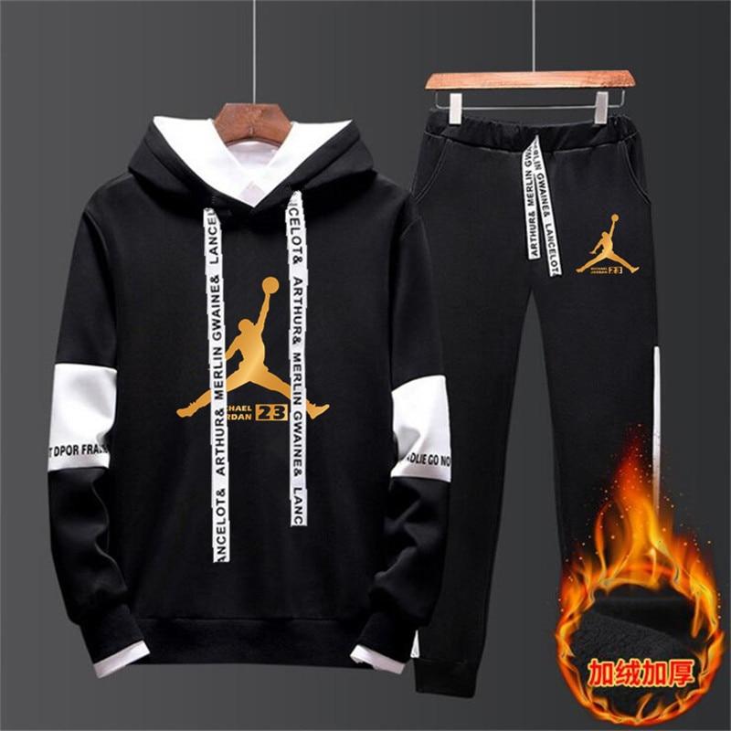 New Sportswear Men's Sportswear Suit Fleece Hoodie Suit Jordan Letter Printing Malechandal Hombre Spring And Autumn Winter Hoodi