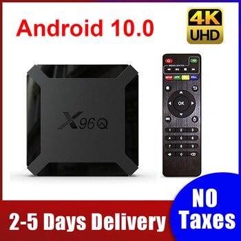 X96Q TV Box Android 10.0 2GB 16GB Allwinner H313 Quad Core 4K 3D H.265 Smart tv box 1G 8G 2.4G Wifi 100M LAN X96 Q Set Top Box europ iptv box x96 1g 8g amlogic s905x quad core android 6 0 tv box wifi hdmi 2 0a 4k 2k marshmallow norway denmark sweden