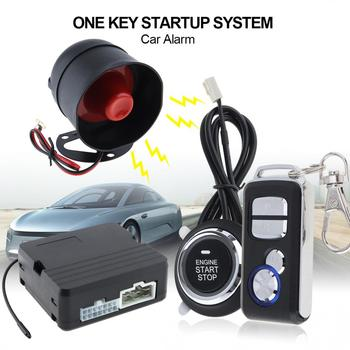 Universal Car Alarm System Remote Start Stop Engine System with Auto Central Lock and  Remote Keyless New