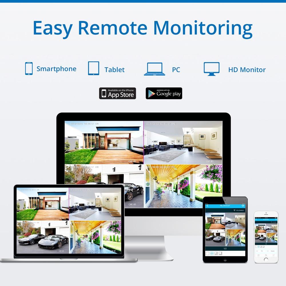 Sannce 8ch kablosuz ip kamera wi-fi nvr kiti 1080 p hd açık ir gece - Güvenlik ve Koruma - Fotoğraf 5