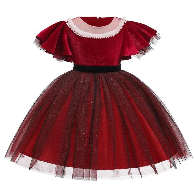 Tutú De Flores Para Niñas Ropa Para Niños Elegantes Vestidos De Terciopelo Dorado Con Cuentas Para Niñas Para Fiesta De Princesa De 3 10 Años