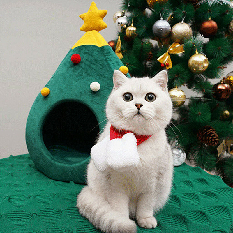 2-main-pet-cat-house-dog-bed-kennel-puppy-cave-warm-sleep-bed-christmas-tree-shape-winter-warm-bed-festival-theme-tree-hole-pet-supply