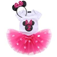 Платье в горошек для маленьких девочек возрастом от 2 лет наряд для первого дня рождения нарядное платье-пачка, пышное платье костюм для мал...