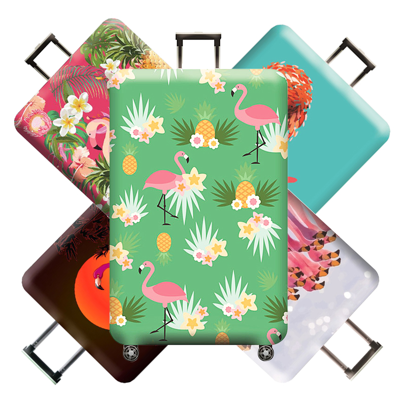 Flamingo Travel Luggage Protective Cover Suitcase Protector Stretch Fabric Baggage Dust Bag Trolley Case Accessories Supplies