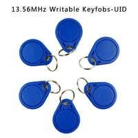 Keyfobs-tarjeta de Control de acceso escribible RFID, etiqueta MF NFC regrabable, usada para copiar/clonar tarjeta, UID Real de 13,56 MHz