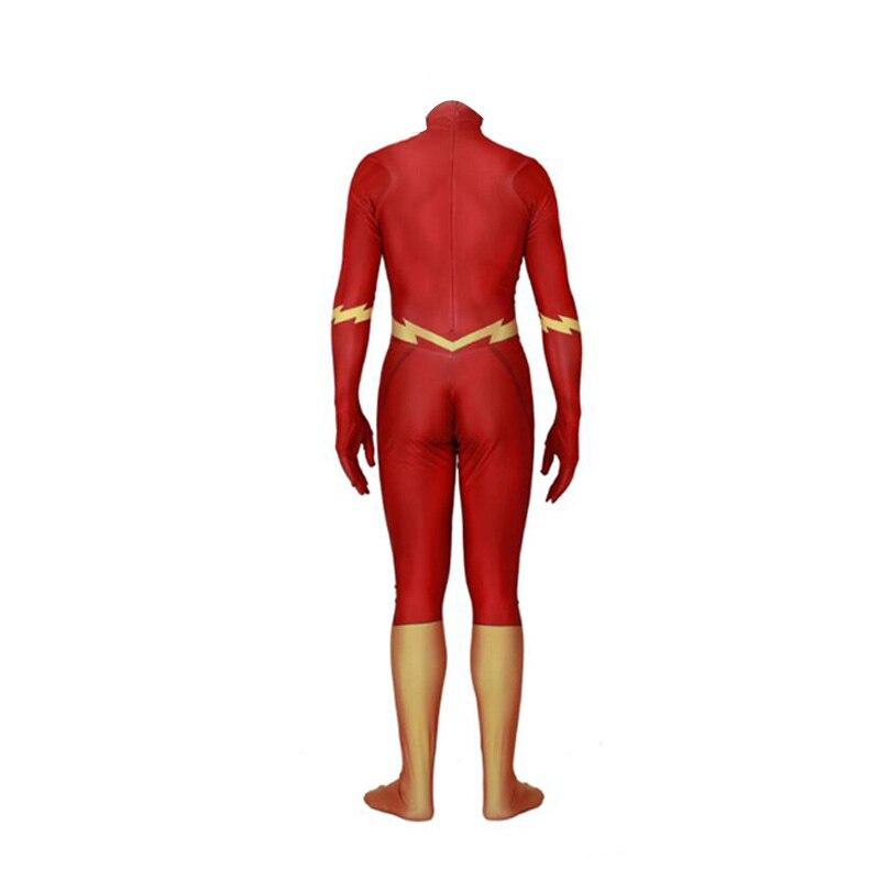 Flash homme Anime halloween costume nouvel an vêtements costume enfants corps mujer body moulante combinaison combinaisons deux pièces ensemble. - 3