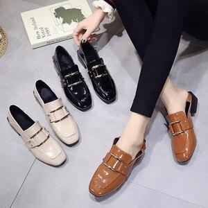 Image 5 - Buty designerskie damskie luksusowe 2020 letnia kobieta moda czarna praca lakierki wysokiej jakości Plus size damskie buty Zapatos mujer