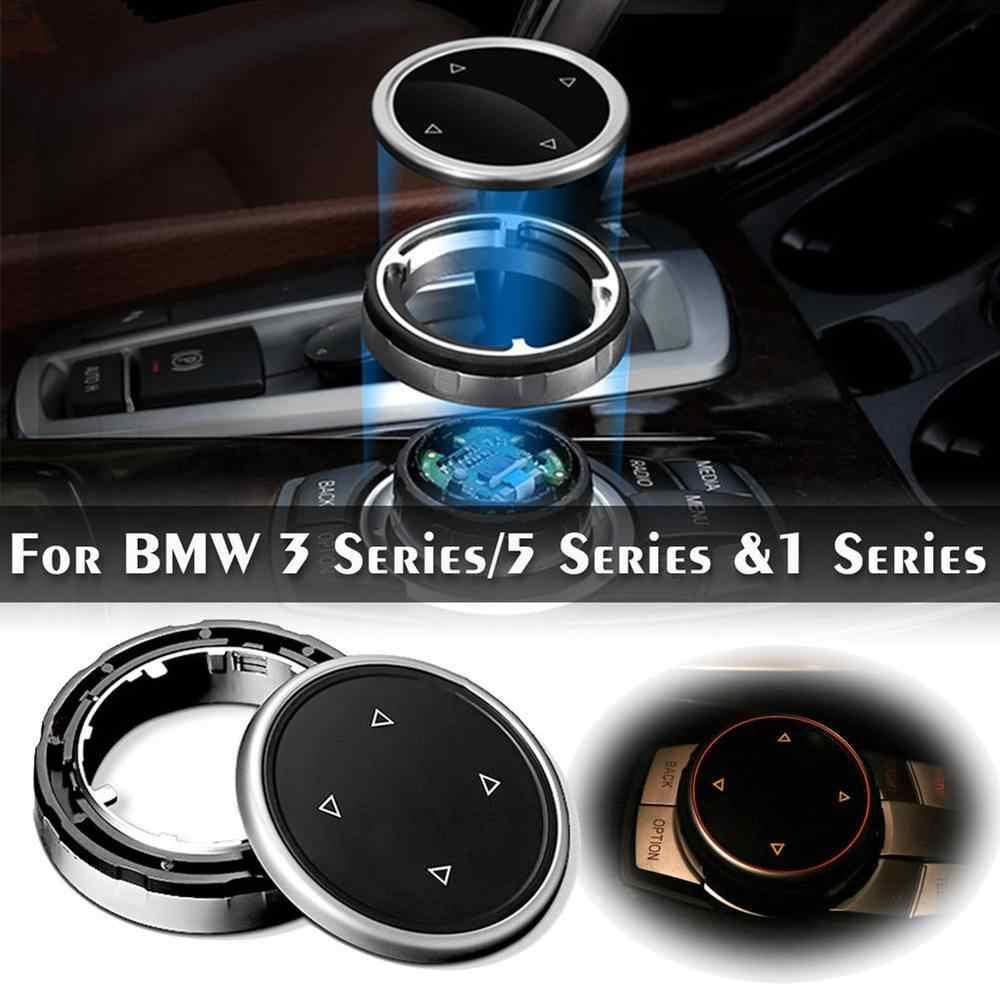 Duży multimedia pokrowiec na gałkę wykończenia czarny guzik dla BMW F10 F20 F30 kontrolera iDrive tylko czarny guzik samochodowe multimedia osłona przycisku