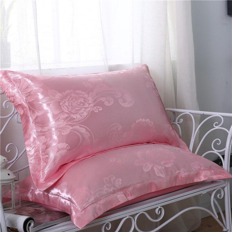 2 шт атласная шелковая наволочка в стиле ретро с цветочным принтом