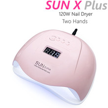 Newest SUNX Plus Lamp for Nails 120W Machine 36LED UV Lamp Two Hands for All Gels LCD Display 10/30/60/99s Timeing Salon Tools