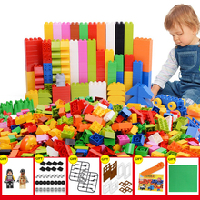 1000 Pieces DIY Building Blocks Compatible LegoINGly City Creative Bricks Bulk Model Figures Educational Kids Toys For Children new my world village compatible legoingly minecrafted building blocks steve figures diy bricks educational toys for children