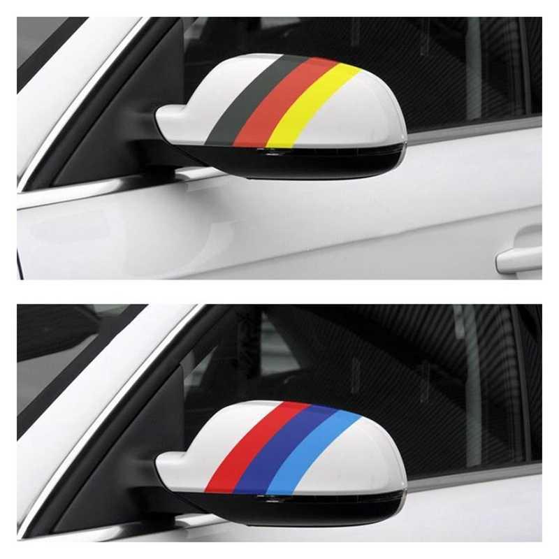 Lignes tricolores personnalisées bricolage vinyle décalque voiture carrosserie côté autocollants rayures course style pour BMW