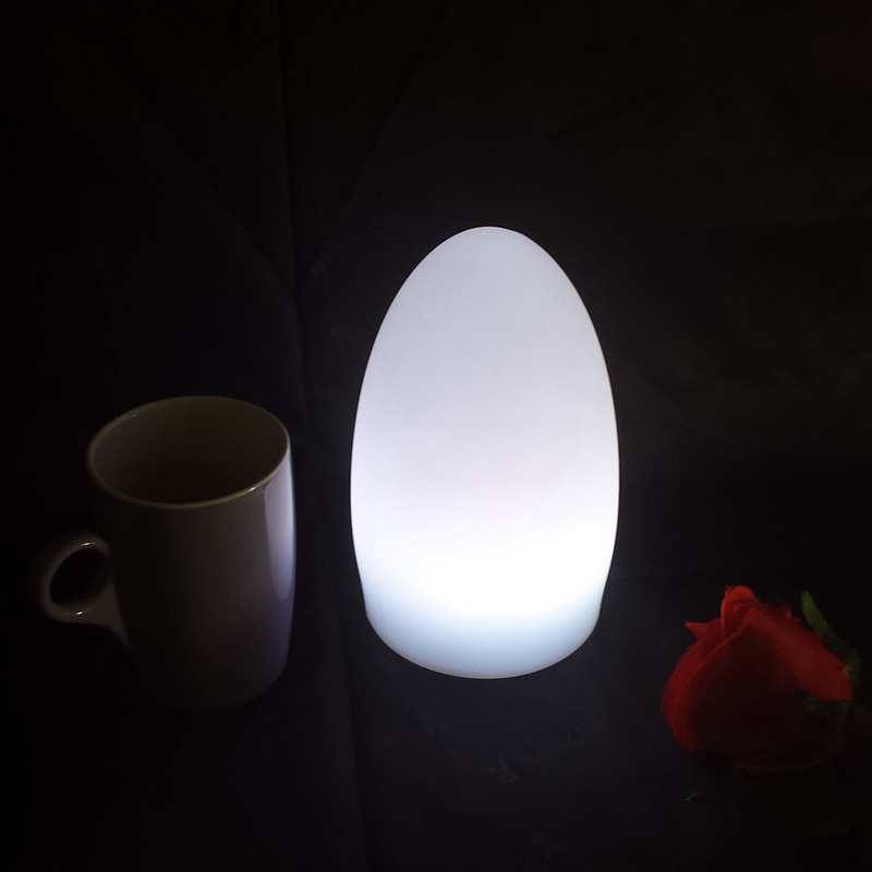 Skybesstech Limited Version D11*H19cm <font><b>16</b></font> Color Change Rechargeable wirless portable <font><b>LED</b></font> Egg Lamp Night <font><b>Lights</b></font> Free shipping 1pc image
