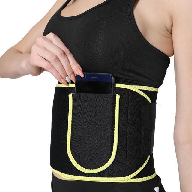 Gym Fitness Sport Sweat Belt Waist Trimmer Cincher Back Support Trainer Underwear Body Building Shaper