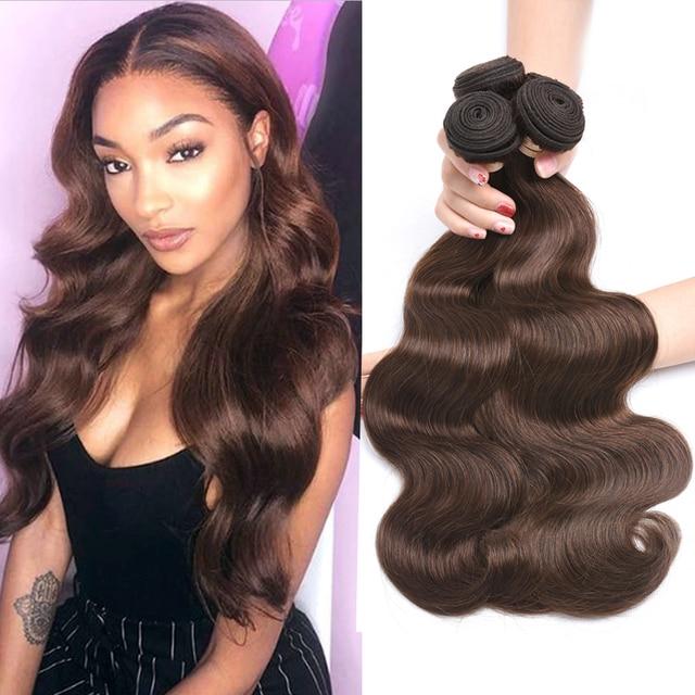 Beaudiva Body Wave Haar Natuurlijke Kleur, #1,#2, #4 Kleur Bundels Braziliaanse Haar Bundel Body Wave 100% Remy Human Hair Bundels