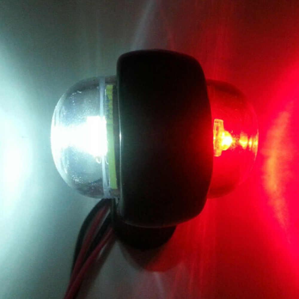 משאית קרוואן LED אדום לבן צד מרקר אור מתאר מחוון מנורת DC 12 V/24 V