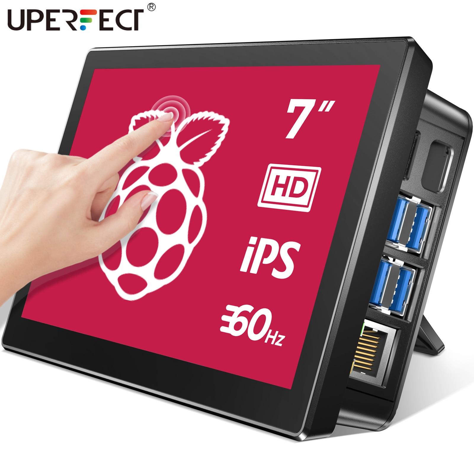 UPERFECT 7 Cal Raspberry Pi 4 ekran dotykowy Raspberry 3 przenośny Monitor RasPi 2 Zero wyświetlacz 1024x600 60Hz ekran dotykowy Raspberri