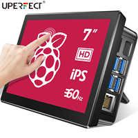 UPERFECT Raspberry Pi 7 pulgadas pantalla táctil de 4 frambuesa 3 Monitor portátil RasPi 2 cero pantalla 1024x600 60Hz Raspberri pantalla táctil