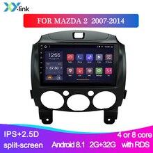 цена на 9 inch Android 9.1 2 Din Dvd Car Multimedia Video Player for Mazda 2 2007-2014 2din Autoradio GPS Navigation Stereo Radio FM RDS
