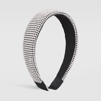 Full Luxury Padded Bling Crystal Rhinestone Wide Hairband 2