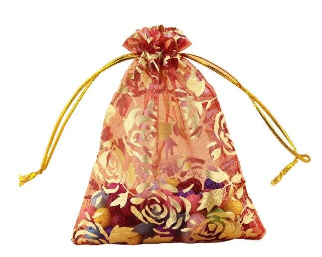 Multi sacos de presente de cordão de