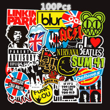 100/60/52Pcs Rock and Roll Punk Band Waterproof Removable Graffiti Stickers Jack Smaga Exclusive TZ042G