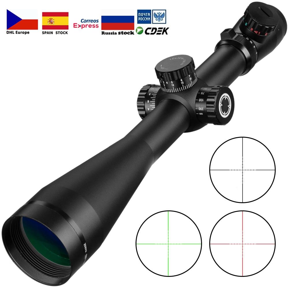6-24x50 lunette de visée tactique optique fusil portée Sniper chasse fusil portée longue portée Airsoft fusil portée