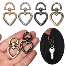 Carabiner Handbags Rings Heart-Buckles-Clips Round Snap-Hooks Purses Gate Trigger Zinc-Alloy-Plated