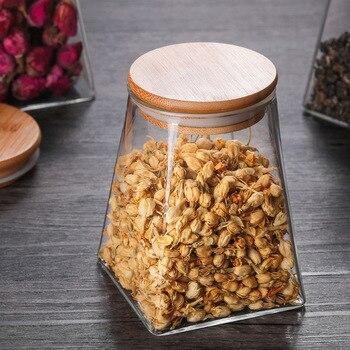 350ml/500ml/750ml/950ml Coffee Jar Tea Jar  sugar jar  glass container  candy jar Storage Container Kitchen Container Cover 6
