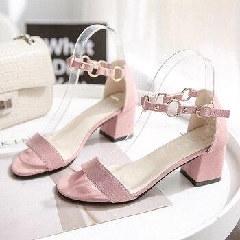 Summer Sandals Fashion String Bead Buckle Strap Summer Women Roman Sandals Party Wedding Shoes