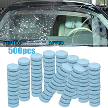 500Pcs Household glass cleaning Wiper Fine Seminoma Wiper Auto Window Cleaning Effervescent tablet Windshield Glass Cleaner Blue