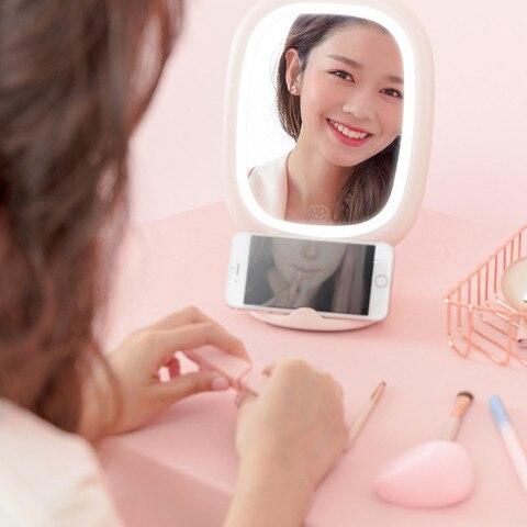 destacavel led espelho de maquiagem recarregavel parede