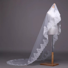 Elegant One Layer Wedding  Veil Lace 2*1.5M Length White Ivory Bridal Cathedral