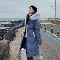 Длинные 2019 новые модные тонкие женские меховые зимние куртки с хлопковой подкладкой теплые утепленные женские пальто длинные пальто парка ...
