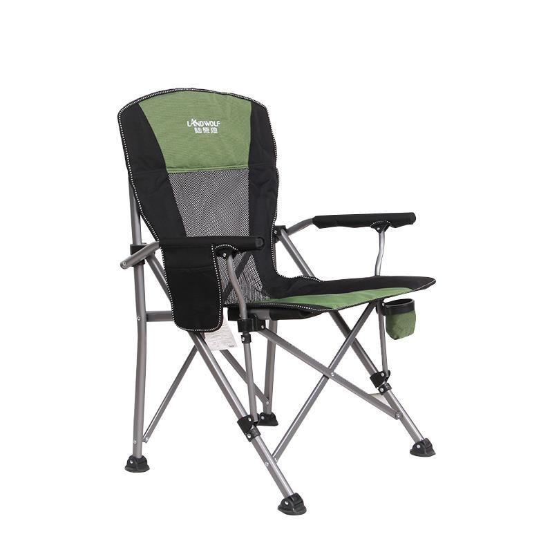 New European Outdoor Folding Chair Portable Beach Chair Stool Director Fishing Chair Leisure Chair Table