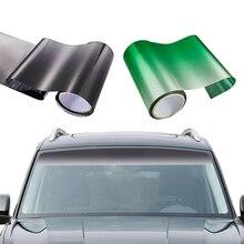 Оконный солнцезащитный козырек, полоса 150*20 см, автомобильная Тонирующая пленка для лобового стекла, УФ-пленка, сделай сам, наклейка, баннер, черный, зеленый, ПВХ