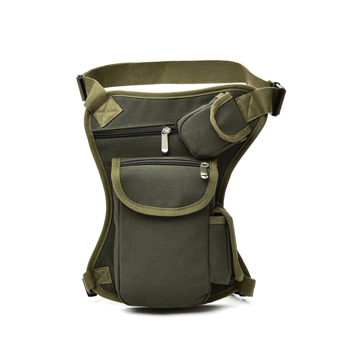 Outdoor Tactical Men Waist Leg Bag Waterproof Hip Drop Belt Fanny Pack Pouch