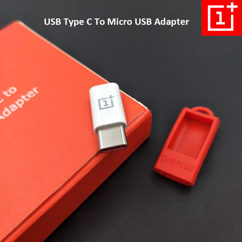 100% Original One Plus Mobile Phone Adapter Micro USB To Type C Charging Converter For OnePlus 7T Pro 7 Pro 2 3 3T 5 5T 6 6T