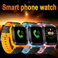 1.44inch Touch Screen Kids Smart Wrist Watch GPS Tracker Children SOS Dual Way Call Anti-lost Real Time GPS/LBS Locator Pedo