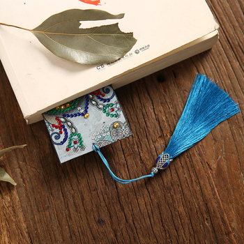 5D Floral DIY Diamond Painting Leather Bookmark Tassel Bookmarks Special Shaped Diamond Embroidery DIY Wedding