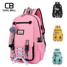 USB Charge Big High School Backpack For Girls Large School Bags For Teenage Girls With Lock Anti Theft Backpack Women Schoolba lovebook backpack female schoolbag for girls teenagers large women backpack with anti theft external usb ladies bags pu 2018