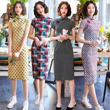 Vestido qipao Cheongsams moderno para chicas jóvenes, novedad de 2020