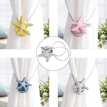 Starfish design Magnetic Curtain Buckle Tieback Holdback Holder Clip Home Bedroom Decor New