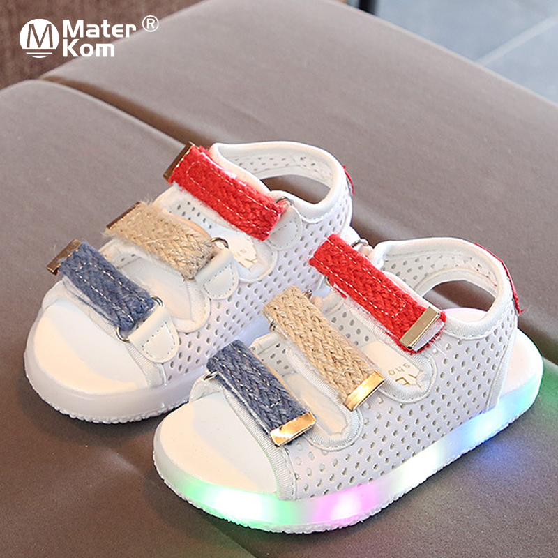 Size 21-30 Children's Led Shoes Baby Glowing Shoes Kids Lighted Sandals Luminous Shoes For Boys Girls Sandals With Backlight